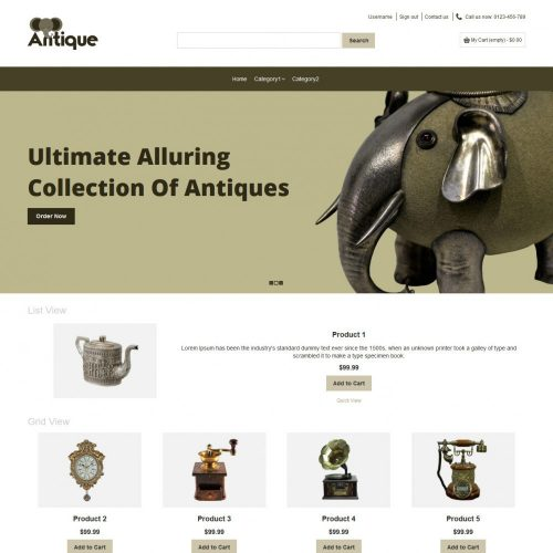 Antique Old Products Virtuemart Template