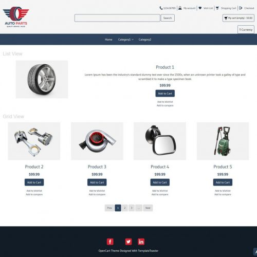 Free OpenCart Themes - TemplateToaster