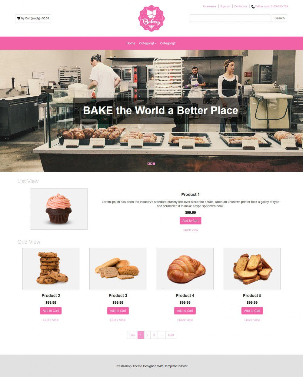 Bakery Cake Online Shop Virtuemart Template