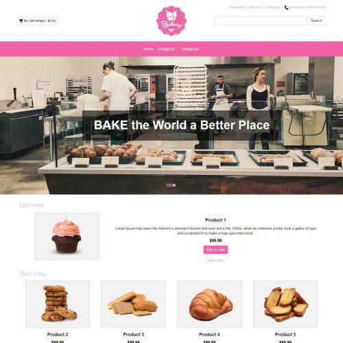 Bakery Cake Online Shop Virtuemart Template