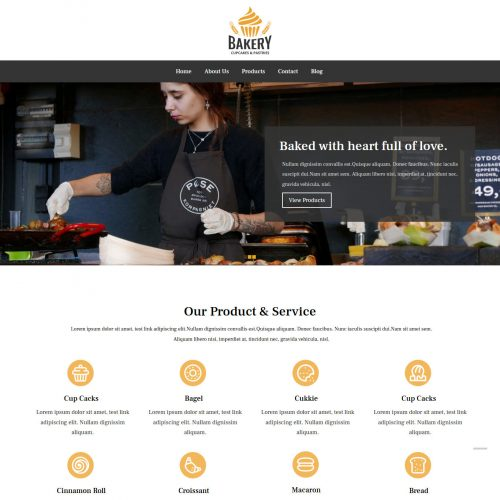 Bakery Drupal Theme For Bakeries
