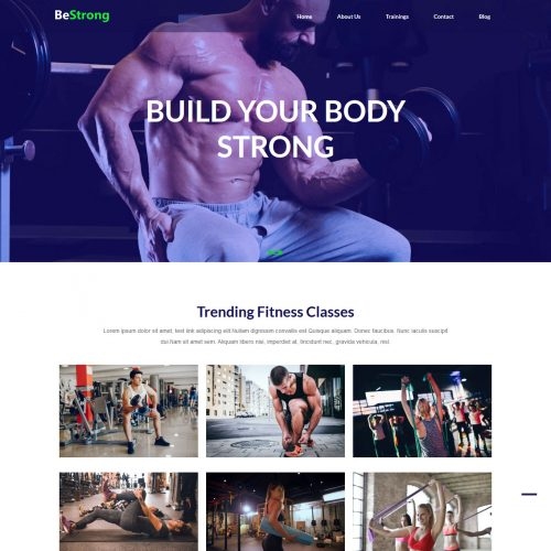 BeStrong Gym and Fitness HTML Template
