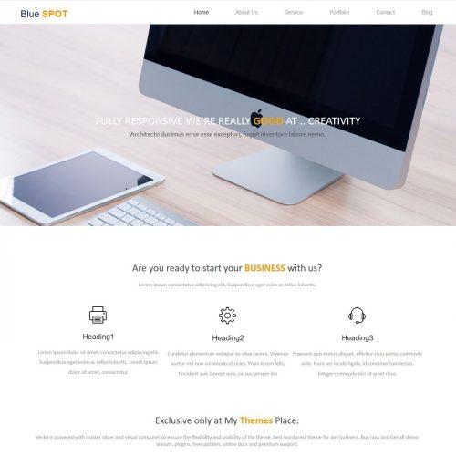 Blue Spot Web Design Studio HTML Template
