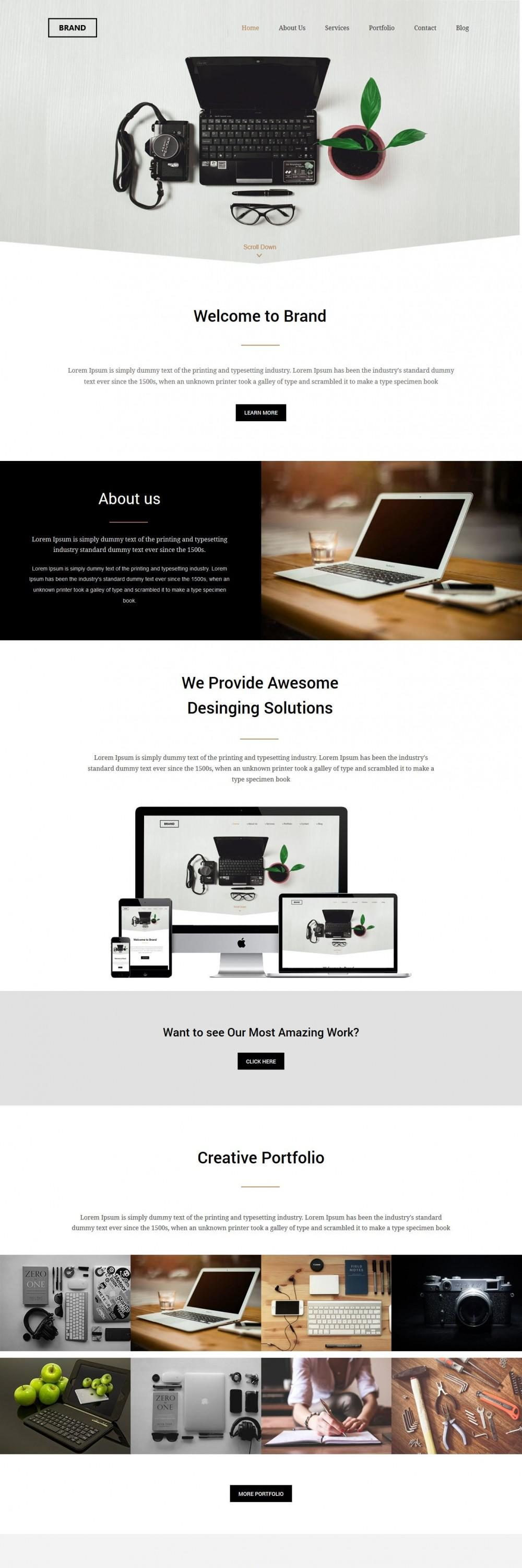 Brand Management Companies HTML Template