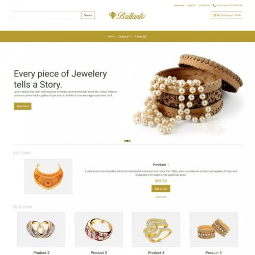 Brillanto Jewellery Store Virtuemart Template