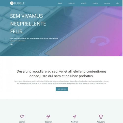 Bubble Premium Web App Design HTML Template