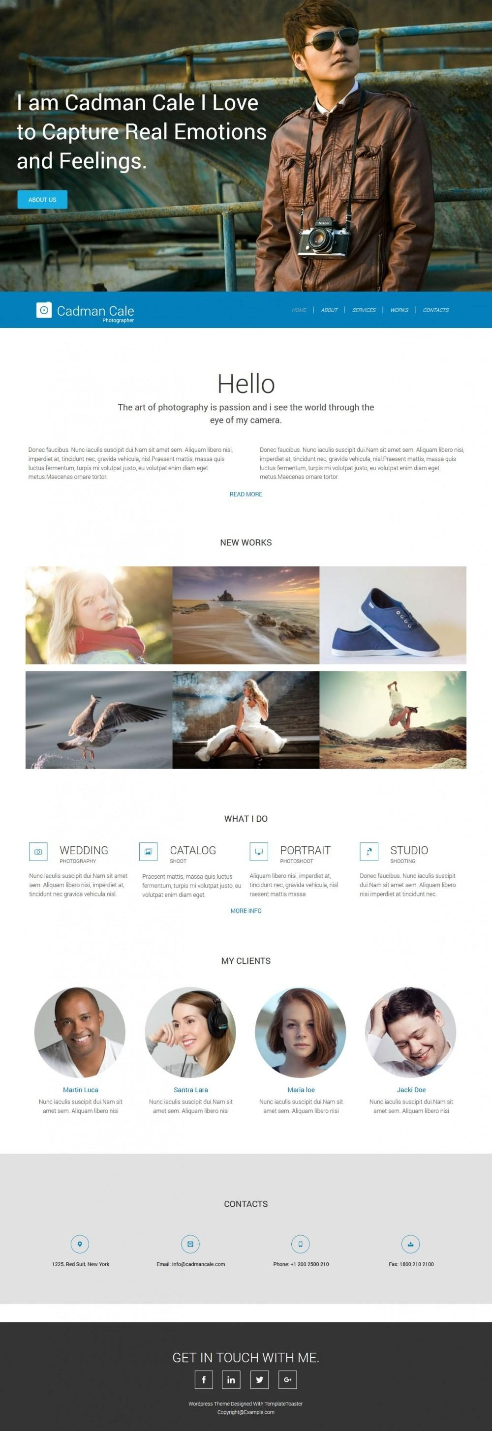 Cadman Cale Personal Photography HTML Template