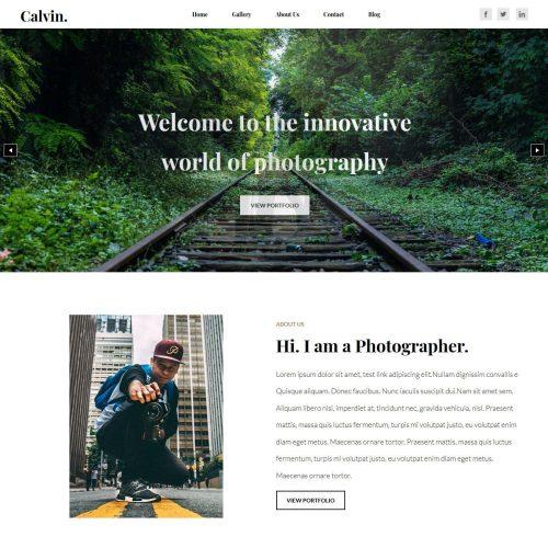 Calvin Photography Joomla Template
