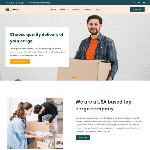 Cargo Mover and Packer HTML Template