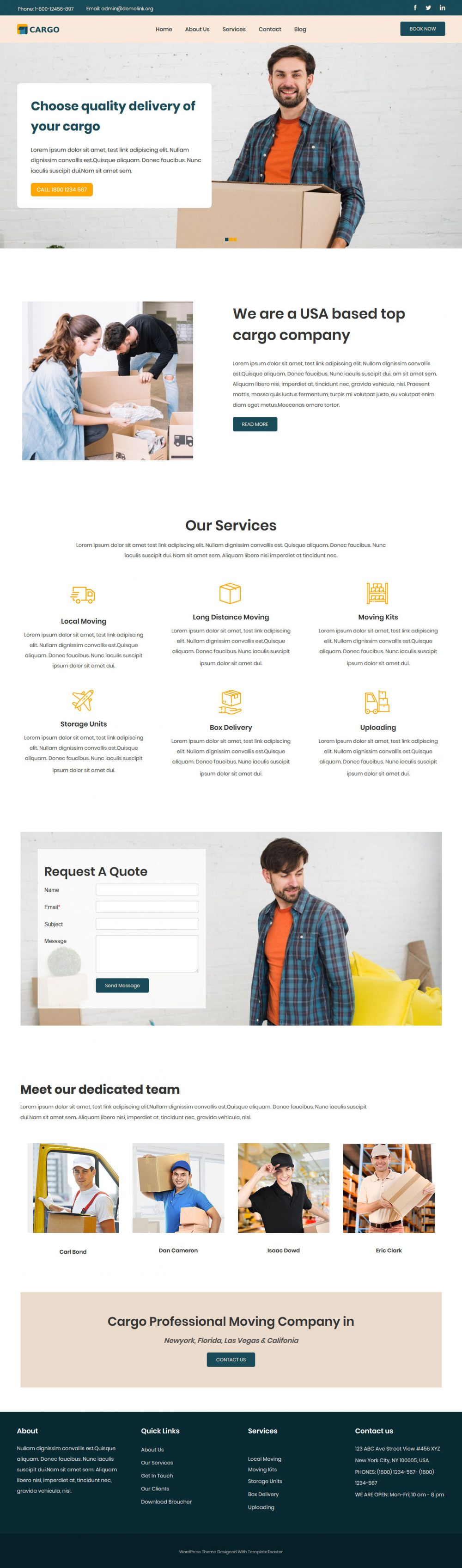Cargo Mover and Packer Joomla Template