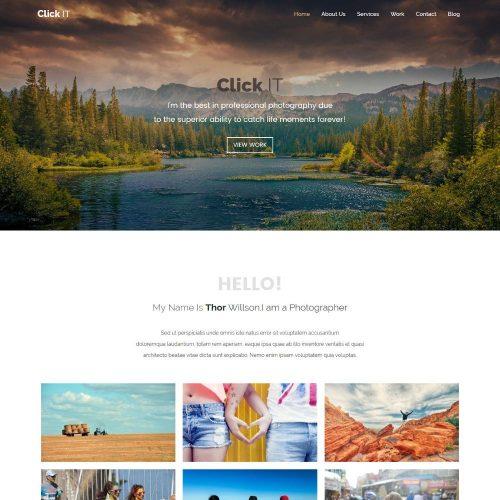 Click it Photography Portfolio HTML Template