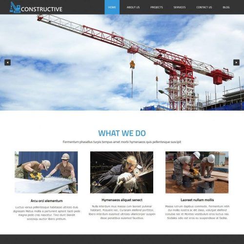 Constructive Construction Buildings Drupal Theme