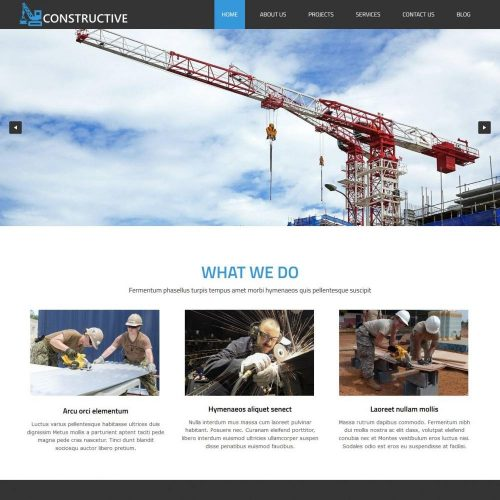 Constructive Construction Buildings HTML Template