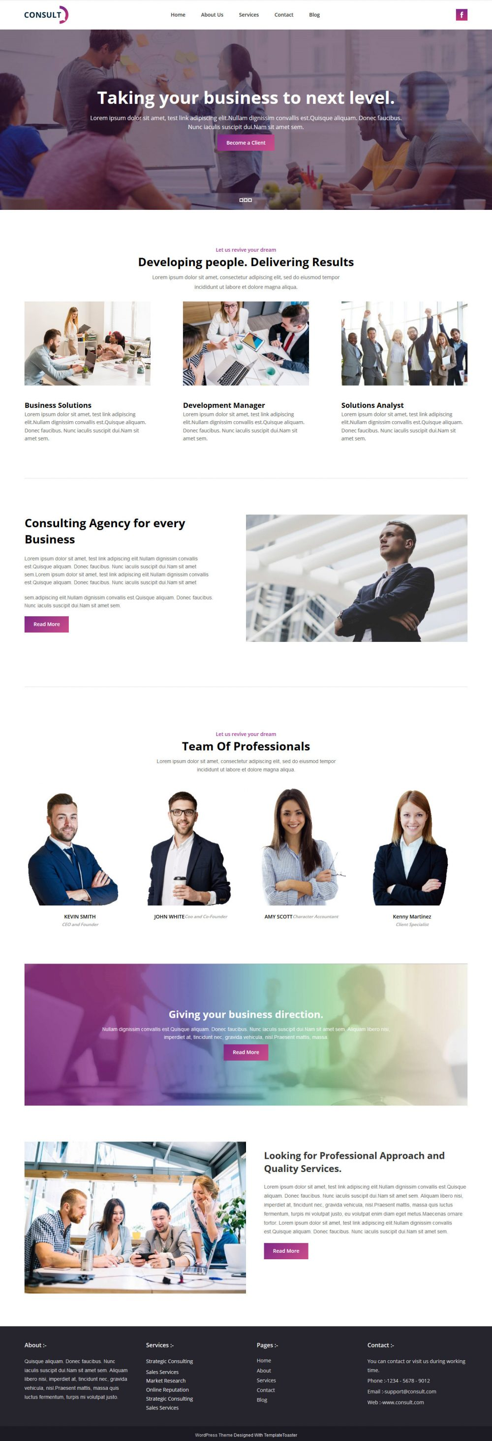Consult Consulting Company Drupal Theme