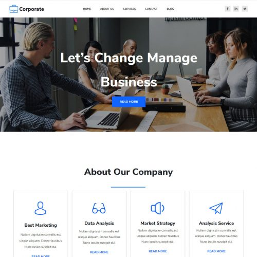 Corporate Business and Finance Blogger Template