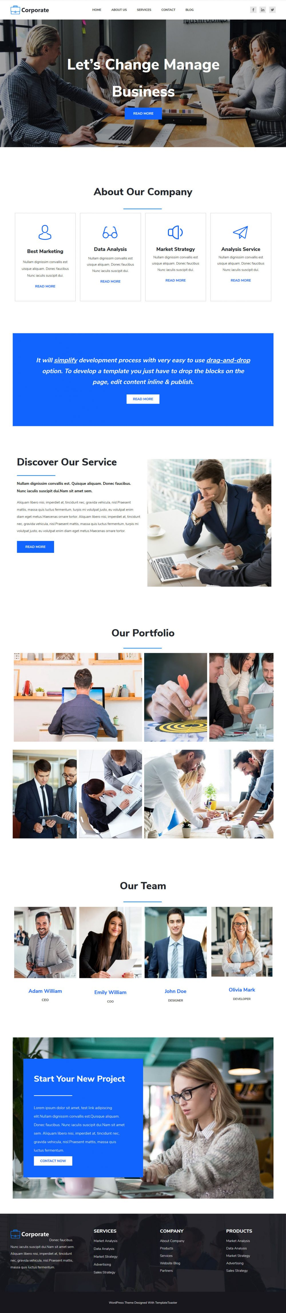 Corporate Business and Finance Drupal Theme
