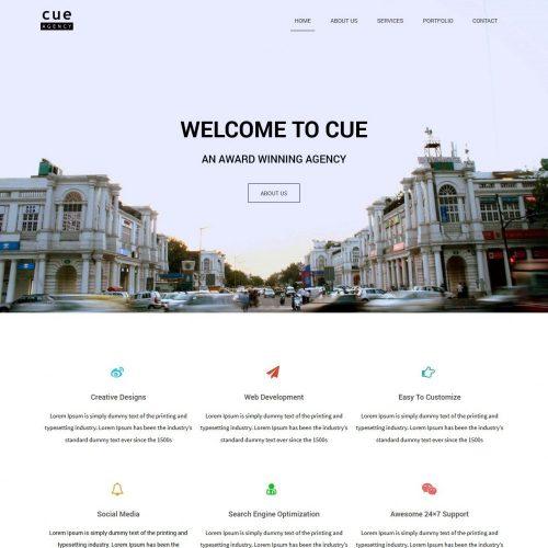 Free Cue Creative Web Design Agency Drupal Theme