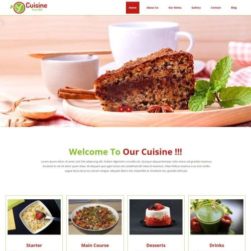 Cuisine Cafe Restaurant and Cafe HTML Template