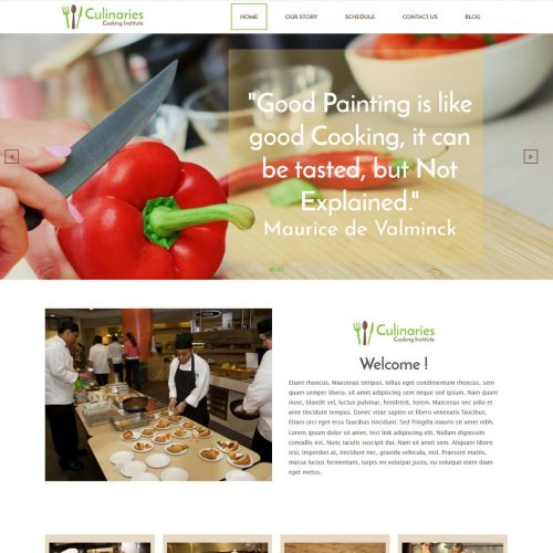 Culinaries Cooking Institute HTML Template