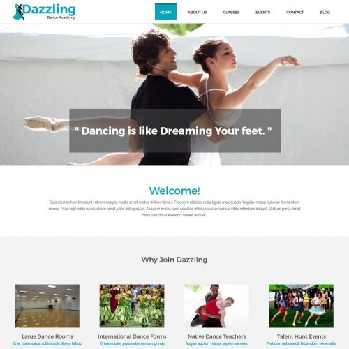 Dazzling Dance Academy drupal theme