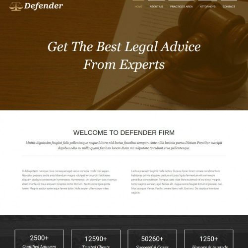 Defender Lawyer HTML Template