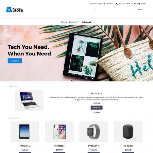 Digital Store Digital Products Virtuemart Template