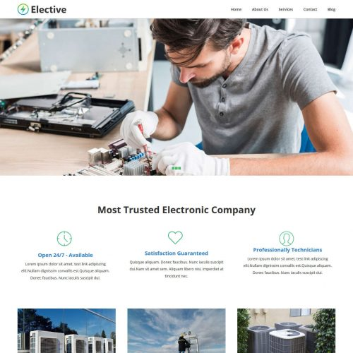 Elective Electronic Repair Service WordPress Theme
