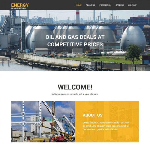 Energy Oil Gas Trading Corporation HTML Template