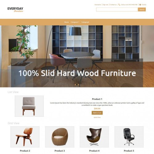 Everyday Furniture Virtuemart Template