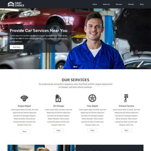 First Choice Auto Repairing Services Drupal Theme