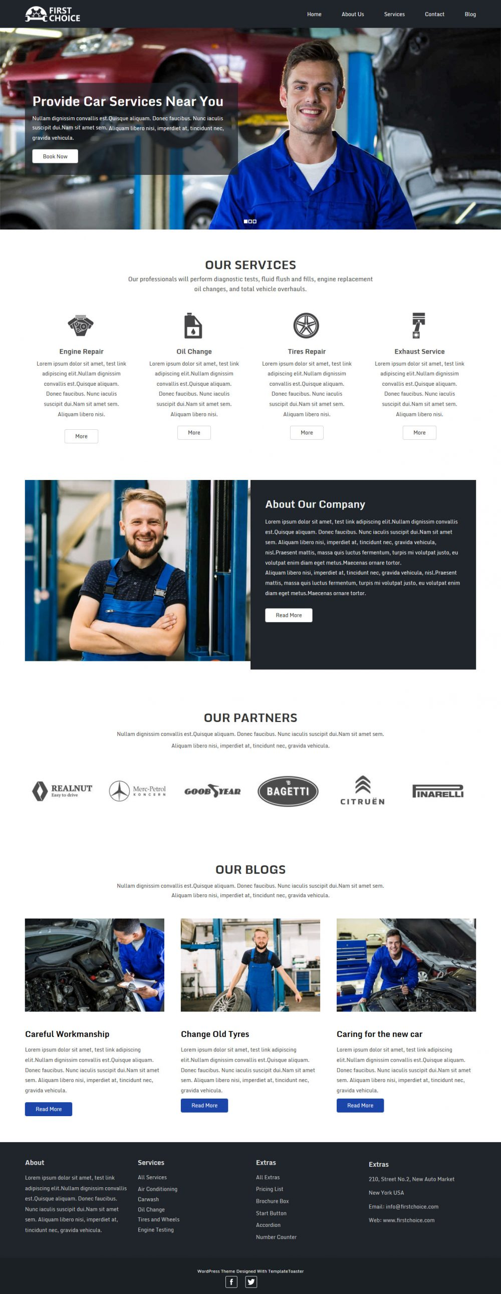 First Choice Auto Repairing Services HTML Template