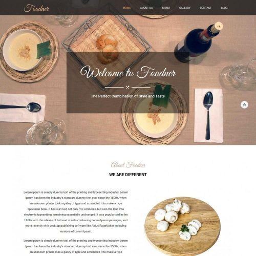 Foodner Restaurant Hotels HTML Template