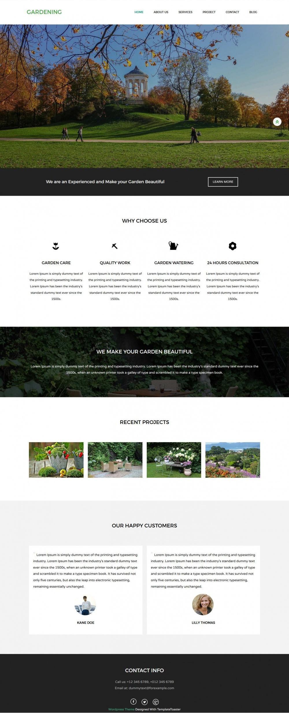 Gardening – Eco Nature/Garden Drupal Theme