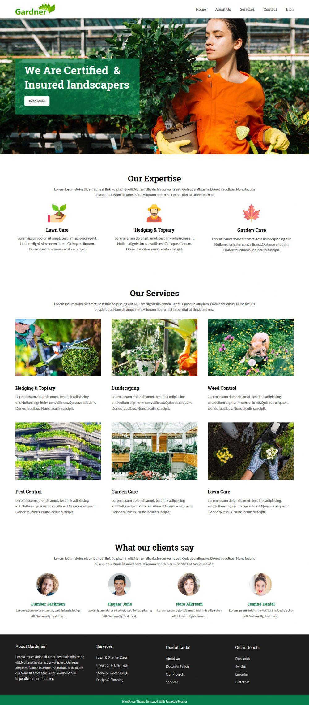 Gardener Gardening Landscaping Drupal Theme