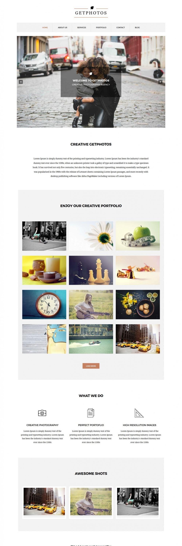 Get Photos – Photography Drupal Theme