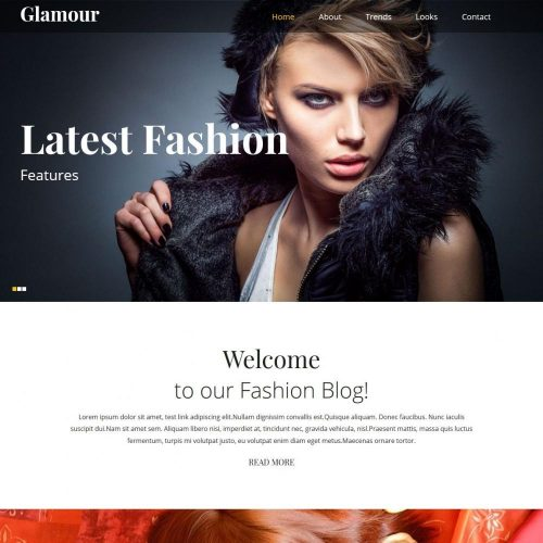 Glamour Stylish Beauty Model HTML Template