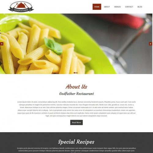Godfather CafeRestaurant Drupal Theme