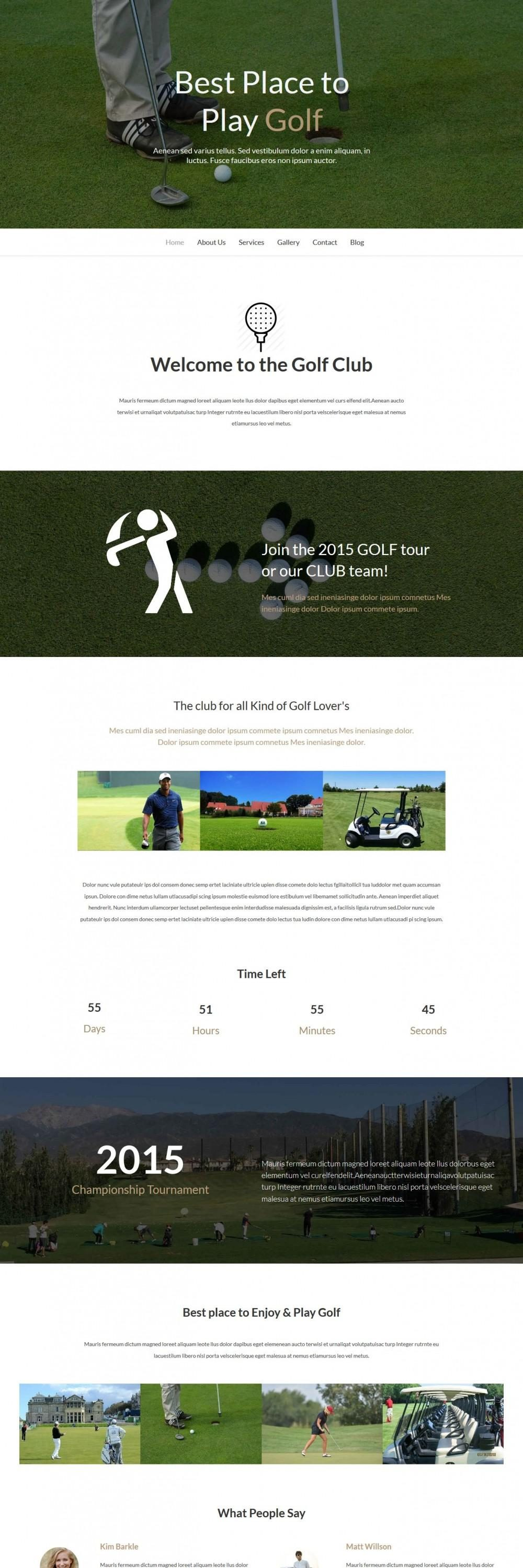 Golf Academy Club HTML Template