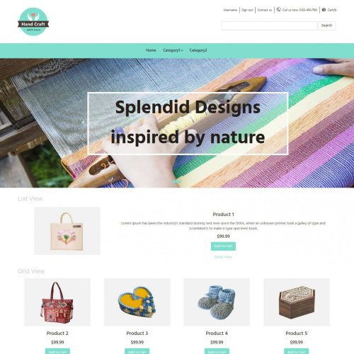 Hand Craft Items OpenCart Theme