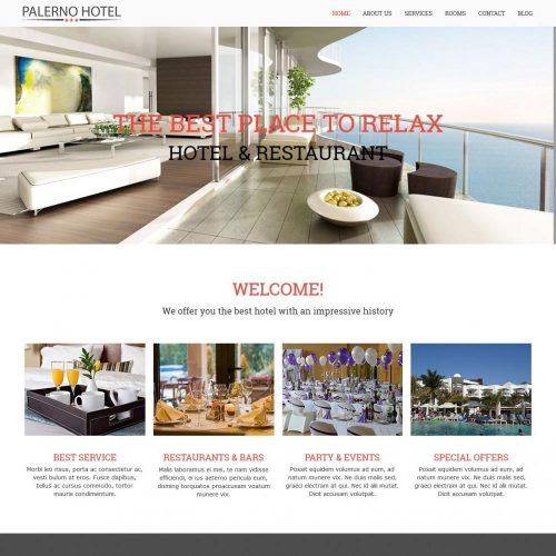 Hotel Palerno Business Drupal Theme
