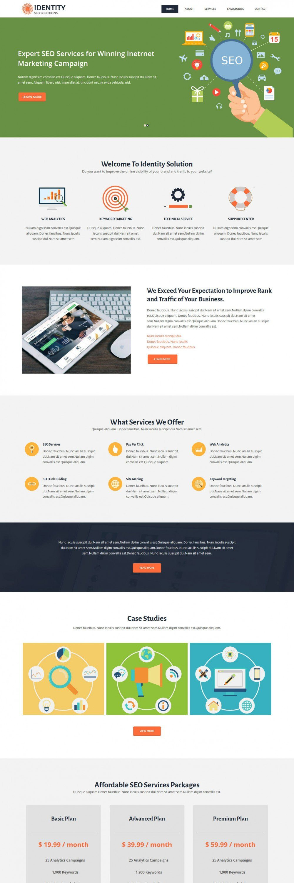 Identity Digital Marketing SEO Blogger Template