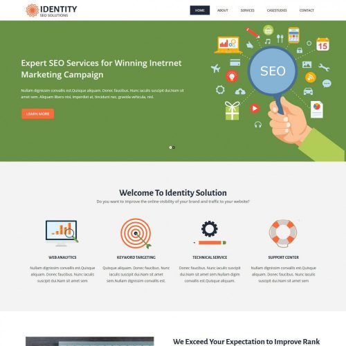 Identity Digital Marketing SEO html Template
