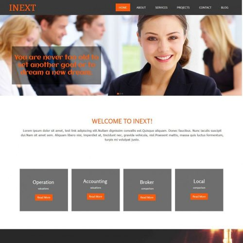 Inext Business Consultant html Template