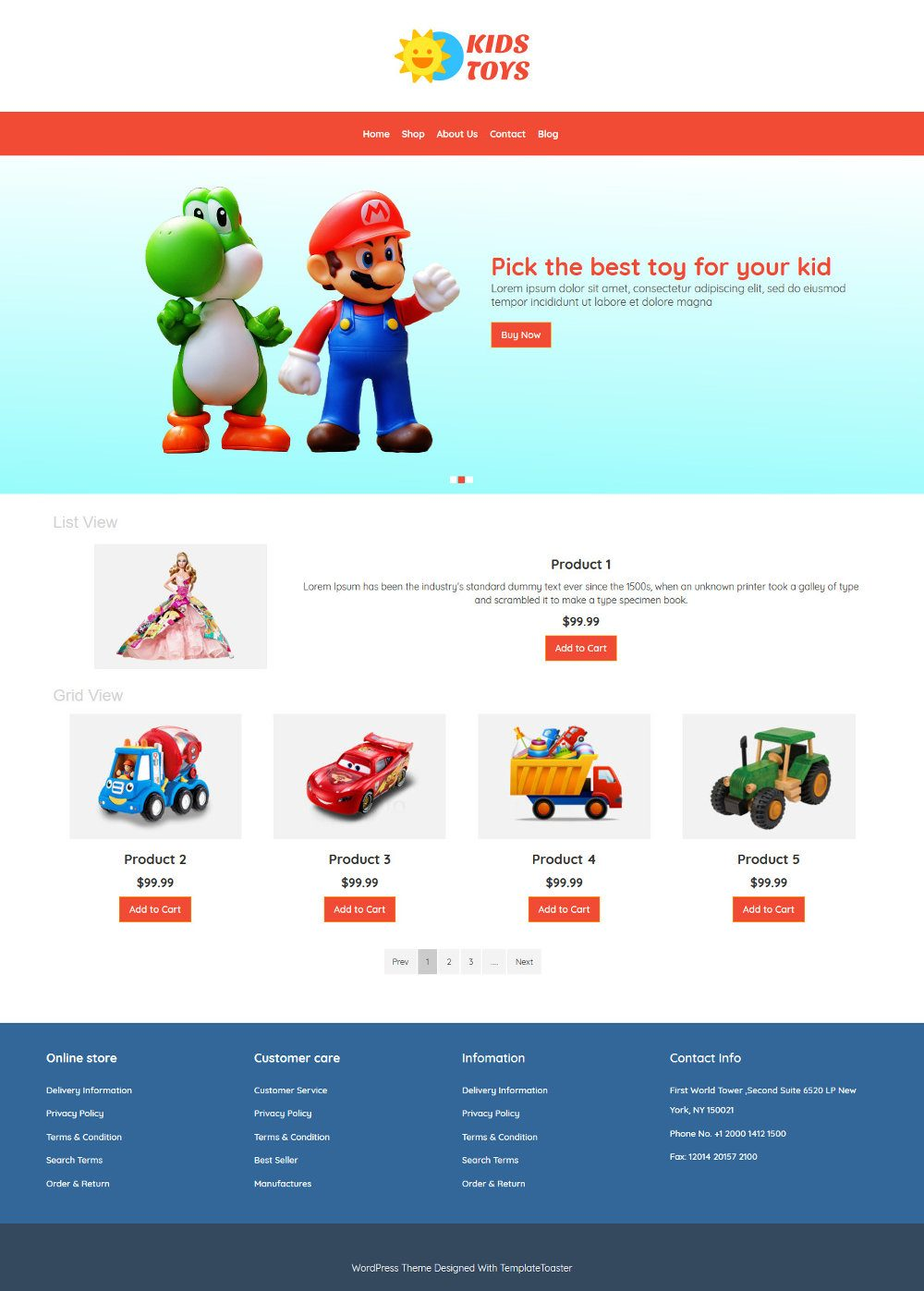 Kids Toys Store Virtuemart Template