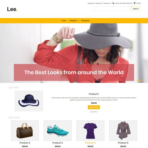 Lee Clothing Store Virtuemart Template