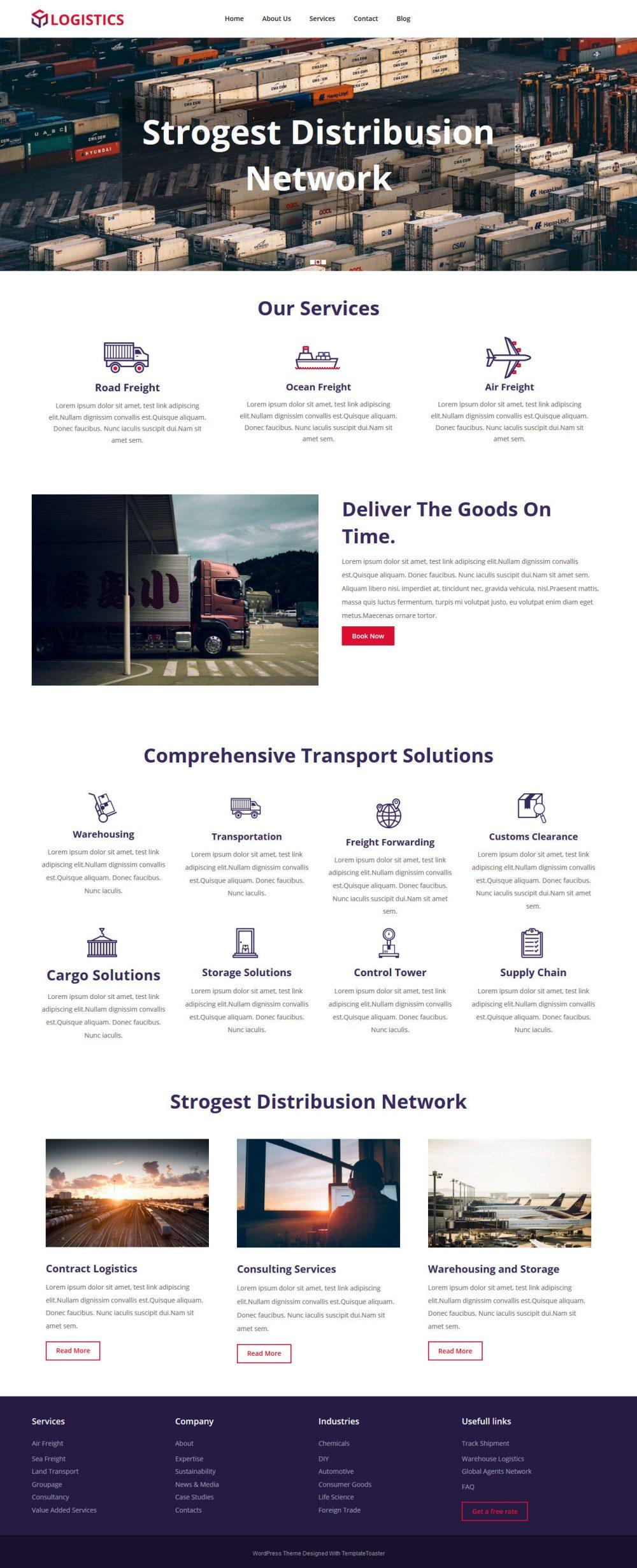 Logistics Cargo Company HTML Template