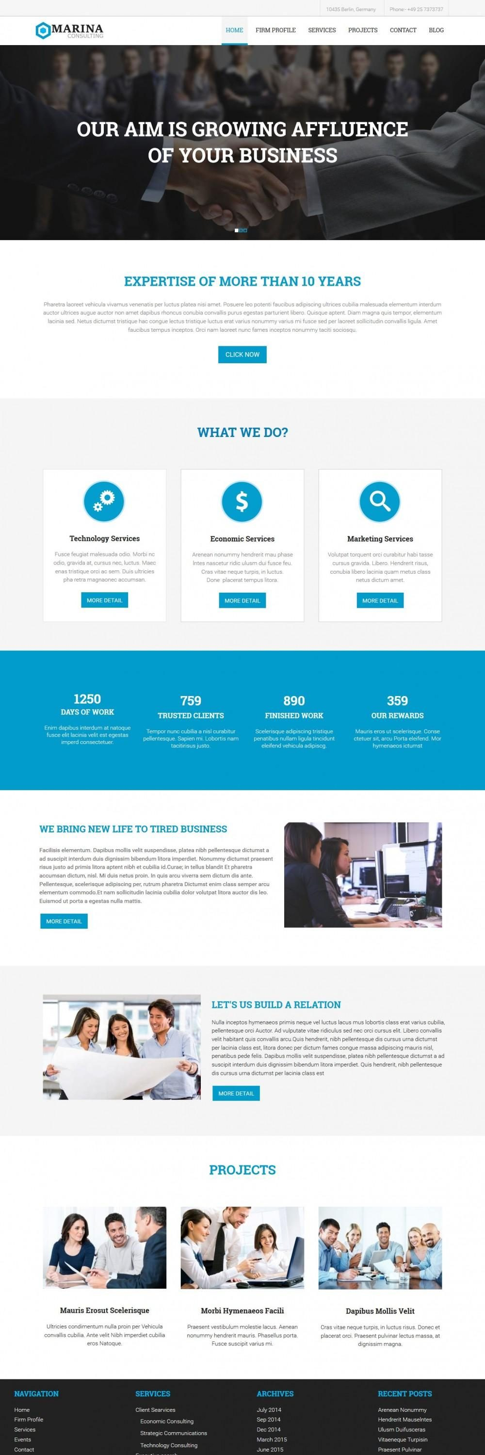 Marina Business Marketing Consultant Drupal Theme
