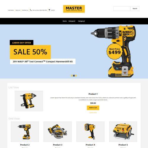MasterTool Tools Store OpenCart Theme