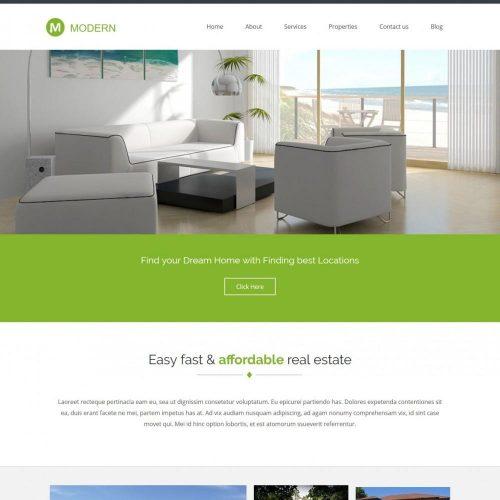 Modern Real Estate Business Drupal Theme