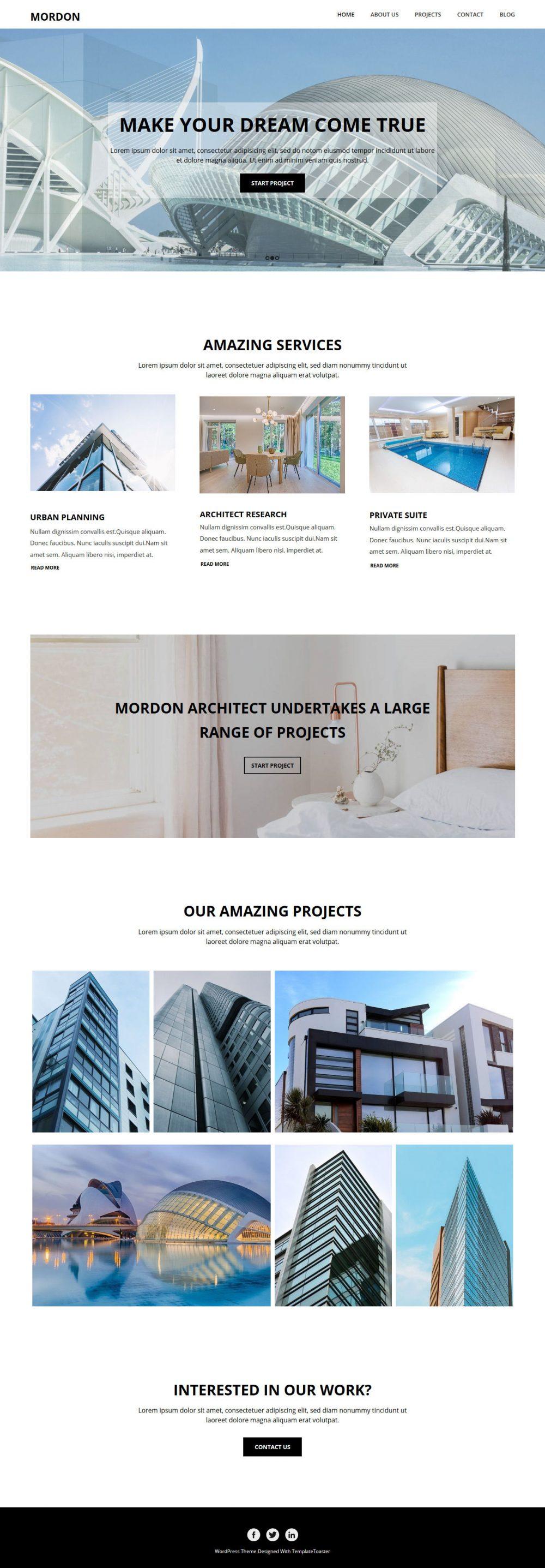 Mordon Architect Drupal Theme